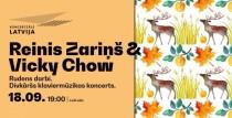 """Koncertzālē """"Latvija""""  klaviermūzikas koncerts """"Rudens darbi"""". Reinis Zariņš & Vicky Chow"""