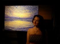 """Evijas Kūlmanes gleznu izstāde """" Sajūti... """""""