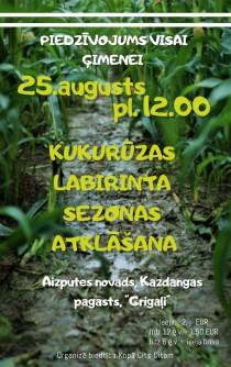 Otro sezonu Latvijā sāks kukurūzas labirints Kazdangas pusē