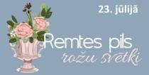 Noķer vasaras mirkļus Remtes pils rožu svētkos