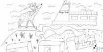 Mākslas skolas audzēkņi rada bērnu krāsojamo lapu sēriju par Ventspili