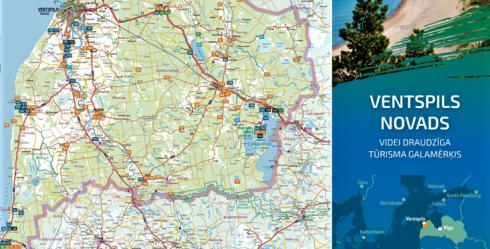 Izdod Ventspils novada tūrisma ceļvedi ar karti